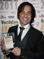 Ramin Karimloo at the 2011 WhatsOnStage Awards