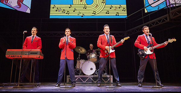 Edd Post, Ryan Molloy, Jon Boyden and David McGranaghan in Jersey Boys