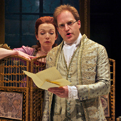 Kirsty Besterman (Lady Teazle) and Daniel Gosling (Sir Peter Teazle) in The School for Scandal