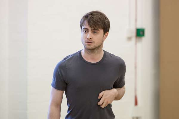 Daniel Radcliffe in rehearsals for The Cripple of Inishmaan