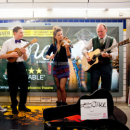 Photos: Once cast busk on London Underground
