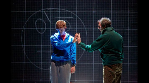 Luke Treadaway and Seán Gleeson in The Curious Incident of the Dog in the Night-time
