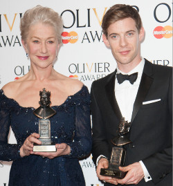 Helen Mirren and Luke Treadaway at the 2013 Olivier Awards