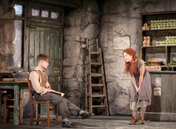 Daniel Radcliffe (Billy) and Sarah Greene (Helen McCormick) in The Cripple of Inishmaan