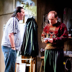 Ciaran Hinds and Michael McElhatton in The Night Alive