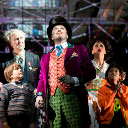 Douglas Hodge (centre) in Charlie and the Chocolate Factory