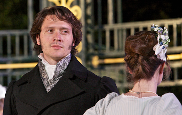 David Oakes as Mr Darcy in Pride and Prejudice at the Open Air Theatre
