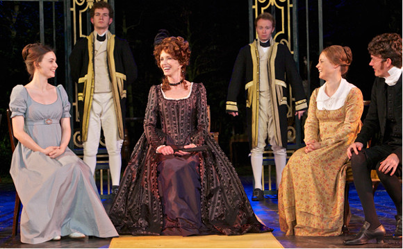 Jane Asher (centre) as Lady Catherine de Bourgh