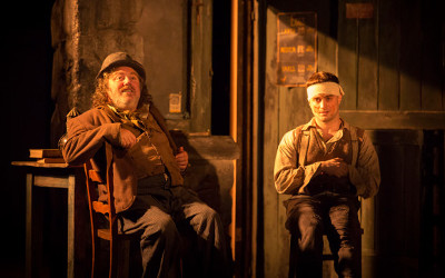 Pat Shortt and Daniel Radcliffe in The Cripple of Inishmaan