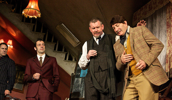 Con O'Neill, Ralf Little, John Gordon Sinclair and Simon Day in The Ladykillers