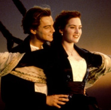 Leonardo DiCaprio and Kate Winslet in 20th Century Fox's <i>Titanic</i>