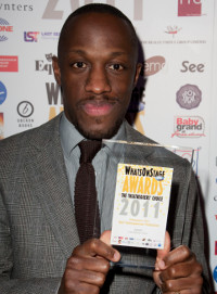 Giles Terera at the 2011 WhatsOnStage Awards