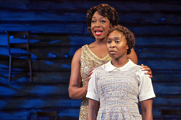 Nicola Hughes and Cynthia Erivo in The Color Purple
