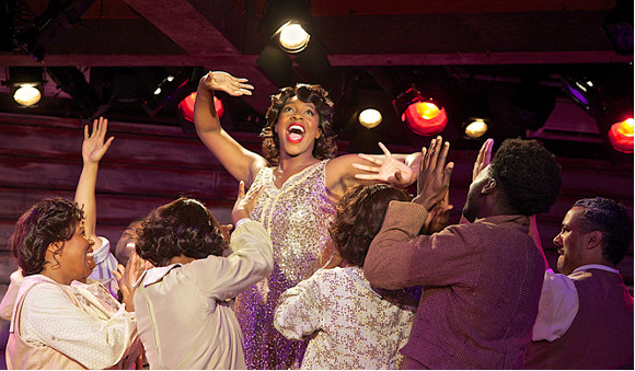 Nicola Hughes (centre) in The Color Purple