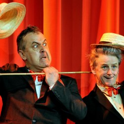 L-R Alan Stocks and Drew Schofield are The Sunshine Boys at the Epstein Theatre opening on 15th August