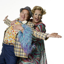 Mel Smith with Michael Ball in Hairspray