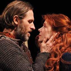Jonny Phillips and Siobhan Redmond in the original production of Dunsinane