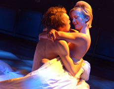 Benjamin Askew and Sophie Melville in Tis Pity She's A Whore at Theatre on the Lake, Keswick