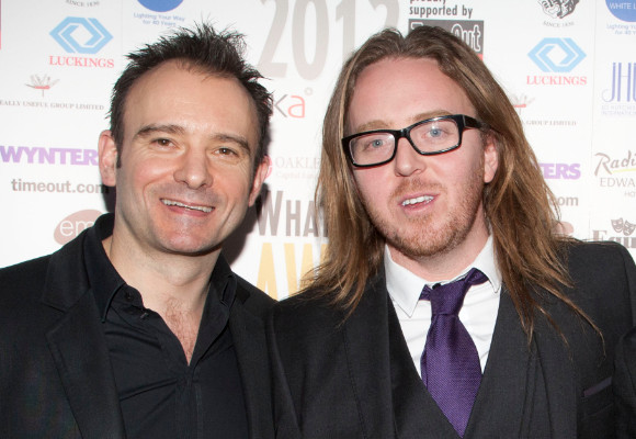 Matthew Warchus and Tim Minchin at the 2012 WhatsOnStage Awards