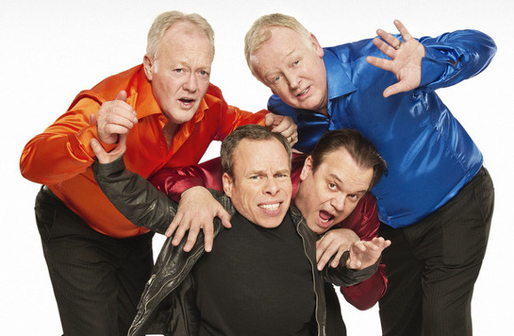 Keith Chegwin, Warwick Davis, Shaun Williamson and Les Dennis in <i>Life's Too Short</i>