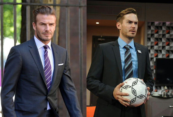 Sean Browne plays David Beckham