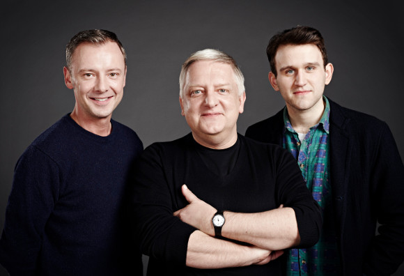 Simon Russell Beale (centre) with his <i>Hothouse</i> co-stars John Simm and Harry Melling