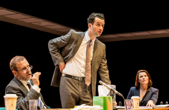 Nigel Lindsay, Daniel Mays and Monica Dolan in <i>The Same Deep Water As Me</i>