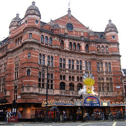 The Palace Theatre, where the incident occurred