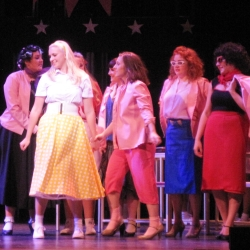 The Pink Ladies in Stage Experience's production of Grease.