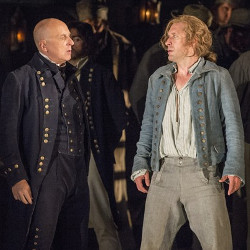 Brindley Sheridan (Claggart) and Jacques Imbrailo (Billy Budd)