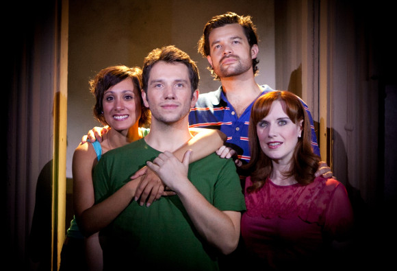 The cast of <i>[title of show]</i> at the Landor