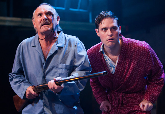 Clive Francis and James Dutton in <i>Thark</i>