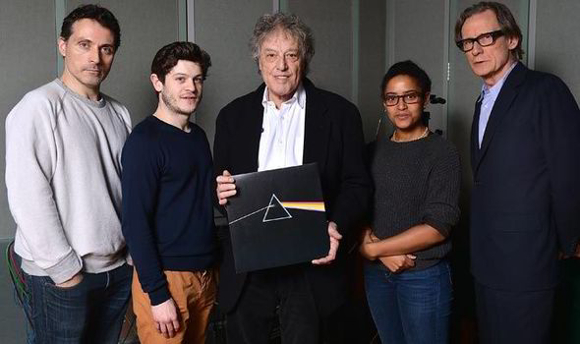 Tom Stoppard (centre) with Rufus Sewell, Iwan Rheon, Amaka Okafor and Bill Nighy
