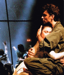 Simon Bowman and Lea Salonga in <i>Miss Saigon</i>