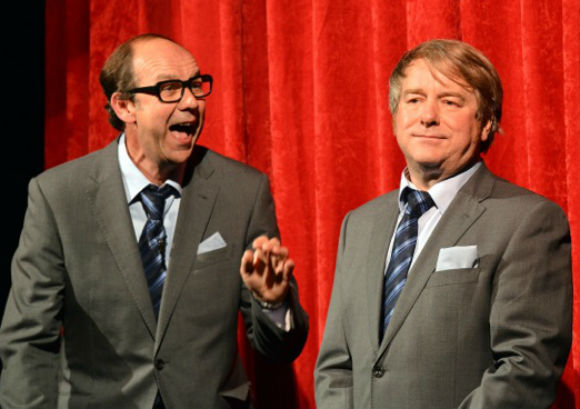 Jonty Stephens and Ian Ashpitel as Morecambe and Wise in Eric and Little Ern