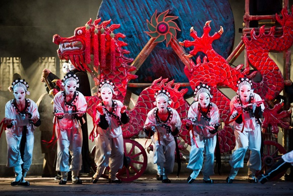 A scene from Turandot by Giacomo Puccini @ Royal Opera House