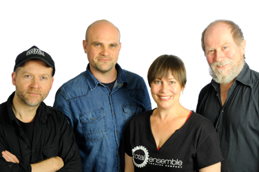 Stash Kirkbride, Peter Beck, Rebecca Chapman & Peter Barrow – the Hostry Festival team