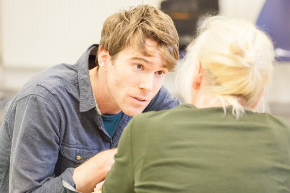 Mawgan Gyles in rehearsals for <i>Long Day's Journey into Night</i>.