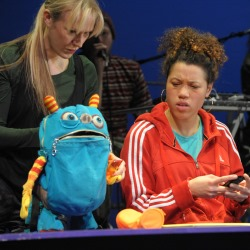 Zoe Hunter (Puppeteer) & Remmie Milner (Melody) in Melody Loses Her Mojo