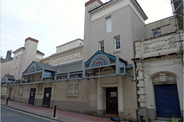 The exterior of the Brighton Hippodome