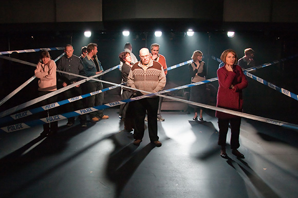A scene from Norris' acclaimed production of <i>London Road</i>