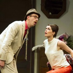 Steven Blakeley and Siobhan O'Kelly in The Public Eye