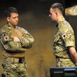 Chris Reilly as Cullen and Chris Leask as Ken in Love Your Soldiers