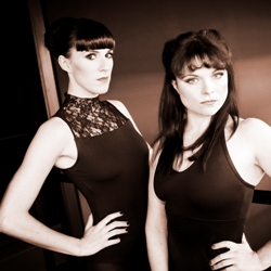 Verity Rushworth (Velma) and Gemma Sutton (Roxie)