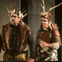 Roderick Earle (Priam) and Grant Doyle (Hector) in King Priam (ETO)